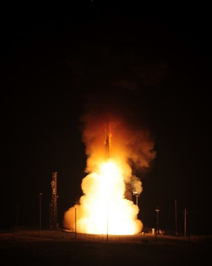 Minuteman III launches from Vandenberg