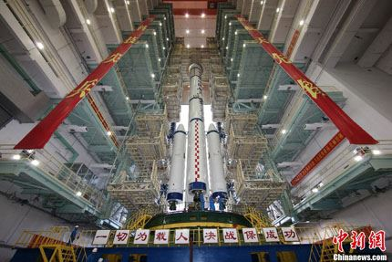 Shenzhou-10 na plataforma 02